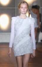CAMILLA AND MARC - Limited Edition NWOT Embellished Silver Aikin Dress Sz 12