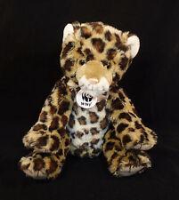"Build-A-Bear Workshop Plush Wwf Spotted Leopard 2012- Stuffed Animal 14"""