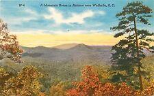 South Carolina, SC, Near Walhalla, Mountain Scene in Autumn Linen Postcard