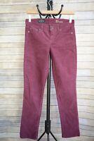 J.Crew - Light RASPBERRY purple cotton blend MATCHSTICK corduroy pants size 25