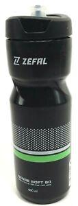 Zefal M80 Sense Water Bottle 27oz BPA Free Black/Green