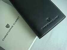 Christophe Claret Black Leather Passport Holder Wallet