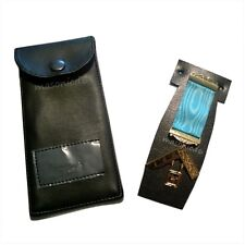masonic regalia-CRAFT PAST MASTER BREAST JEWEL + JEWEL CASE/HOLDER/WALLET (NEW)