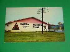 ZU471 Vintage Postcard Gift Shop Museum of Tennessee Indian Townsend Tennessee