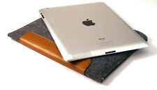 iPad AIR & AIR 2 felt and leather PATCH sleeve wallet case UK MADE, PERFECT FIT!