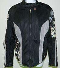 JOE ROCKET RACING BLACK GRAY MESH MOTORCYCLE JACKET w/ PADS WOMENS GIRLS LARGE