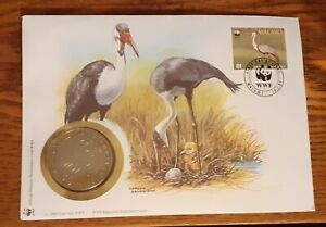 1987 WWF World Wide Fund For Nature Medallion PNC and Malwai First Day  Cover