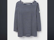 Joules Y Harbour Ladies Long Sleeve Jersey Top Hope Stripe French Navy 14