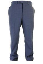 Barre III Minuit Bleu Stepweave Slim Fit Chiffonné Robe Pantalon 40
