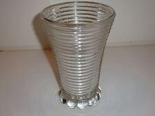 Vintage Hocking Manhattan Pattern Clear Depression Glass Vase