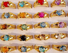 Wholesale 10pcs Exquisite Crystal CZ Rhinestone Gold Plated Ring Party Wedding