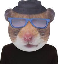 Morris Costumes Unisex Hip Hop Hamster Blue Glasses Mask One Size. SE17945