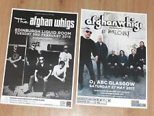 The Afghan Whigs live music memorabilia - Scottish tour concert gig posters x 2