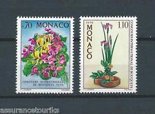 MONACO FLEURS - 1974 YT 984 à 985 - TIMBRES NEUFS** LUXE