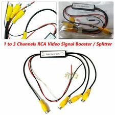 12V General Car DVD TV Video Monitor Amplifier Booster Distribution RCA Splitter