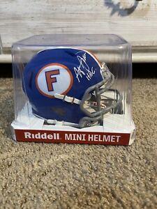 Steve Spurrier Autograph Mini Helmet PSA DNA Authentic Florida Gators Retro Blue