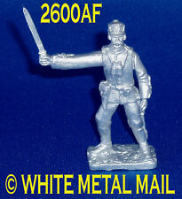 Military Lead Casting LA2600AF 24th Foot British Officer with Binoculars
