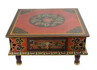 Tavola Tibetano Basso bouddhiste-73x40cm-meuble Tibetano-Tibet Nepal -9775