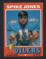 1971 Topps #64 Spike Jones NM/NM+ RC Rookie Oilers 66162