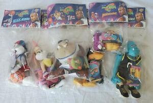 McDonalds Space Jam Tune Squad 1996 Plush Complete Set 6 Toys NEW SEALED BAGS