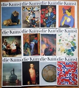 12x Die Kunst 1983 komplett Zeitschrift Hefte 1-12 schöne Heim Malerei Graphik