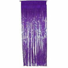 Pack of 50 Shimmer Foil Door Curtains for party Decorations.1M x 2M - Purple