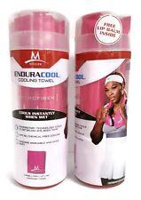 "(2 PACK) Mission EnduraCool Microfiber Cooling Towel - PINK 12""x33"" w/ LIP BALM"