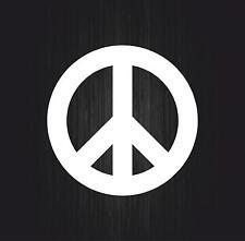 sticker decal car macbook bumper bike  room peace love white symbol hippie vinyl