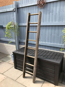 "Vintage Wooden Ladder 72"" x 16"" Display Shelf Shop Urban Loft Prop Display"