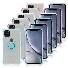 "For iPhone 11 6.1 Pro 5.8/Pro Max 6.5"" Car Magnetic Clear TPU Ring Holder Cover"