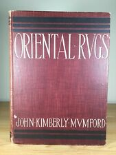 Antique 1902 Oriental Rugs Book John Kimberly Mumford Color Plate Illustrations
