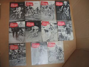 COUREUR SPORTING CYCLIST MAGAZINE - JOBLOT OF 11 x COPIES FROM 1962 - GOOD ORDER