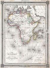1852 bocage Mappa Africa AFRIQUE Vintage Poster Art Print 2902pylv