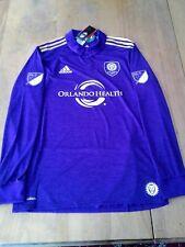 2017 MLS Orlando City SC Authentic Adidas Adizero l/s home jersey (L) NEW