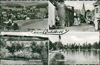Ansichtskarte Waldbröl vier Ansichten Stadtmitte Total Strandbad Krank (Nr.9587)