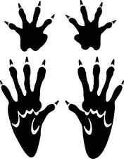muskrat  track /Ondatra zibethicus  footprint sticker / paw print decal