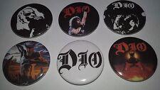 6 Dio button Badges Ronnie James Black Sabbath UK rock metal Holy Diver