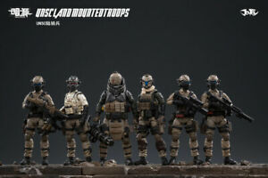 6pcs JOYTOY 1/25 UNSC Land Cavalry Mounted Troops Action Figure Model Toys