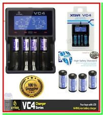 Caricabatterie XTAR VC4 LCD + 4 Batterie Ricaricabili Litio 16340 CR123A Softair