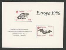 FRANCE EPREUVE DE LUXE 1986 EUROPA CEPT FLEDERMAUS BAT WILDKATZE RARE!! m1276