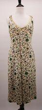 Karen Millen 8 Asian Inspired Unique Print Satin Artsy Gold Sequin Trim Dress