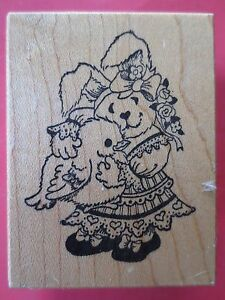 PSX  rubber stamp D620 bunny rabbit chick easter