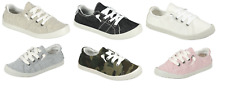 Youth Kids Girls Lace Up Canvas Shoes Casual Comfy Slip On Sneakers Size 9-4