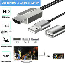 Micro USB Type C To HDMI 4K Projector HUB Adapter Cables For Android iPhone iPad