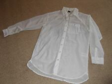 h & m light cream colour sheer shirt - size 8