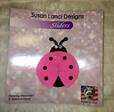 Susan Lanci Ladybug Collar Slider Perfect Pink Size M