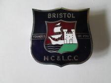 Bristol motor cycle & light car club badge.motor club badge. car badge.