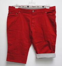 Shorts e bermuda da uomo rossi con fantasia nessuna fantasia in misto cotone