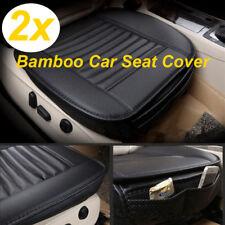 2PC Universal Vorne Auto Sitzkissen Sitzauflage Sitzbezüge Sitzmatte PU Leder