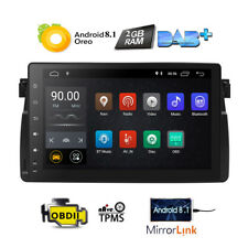 """HIZPO Android 8.1 9"""" Car Radio GPS CAN Bus Stereo For BMW E46 320 330 323 325 M3"""